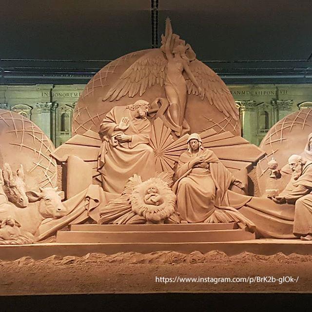 Presepe di sabbia Piazza San Pietro Natale 2018 Roma