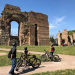 Ancient Appian way by bike with children