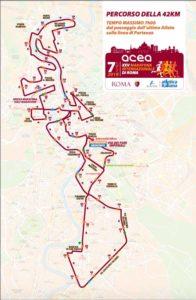 Percorso Maratona di Roma 2019