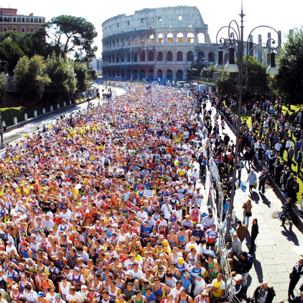 Rome Marathon Departure to Colosseum