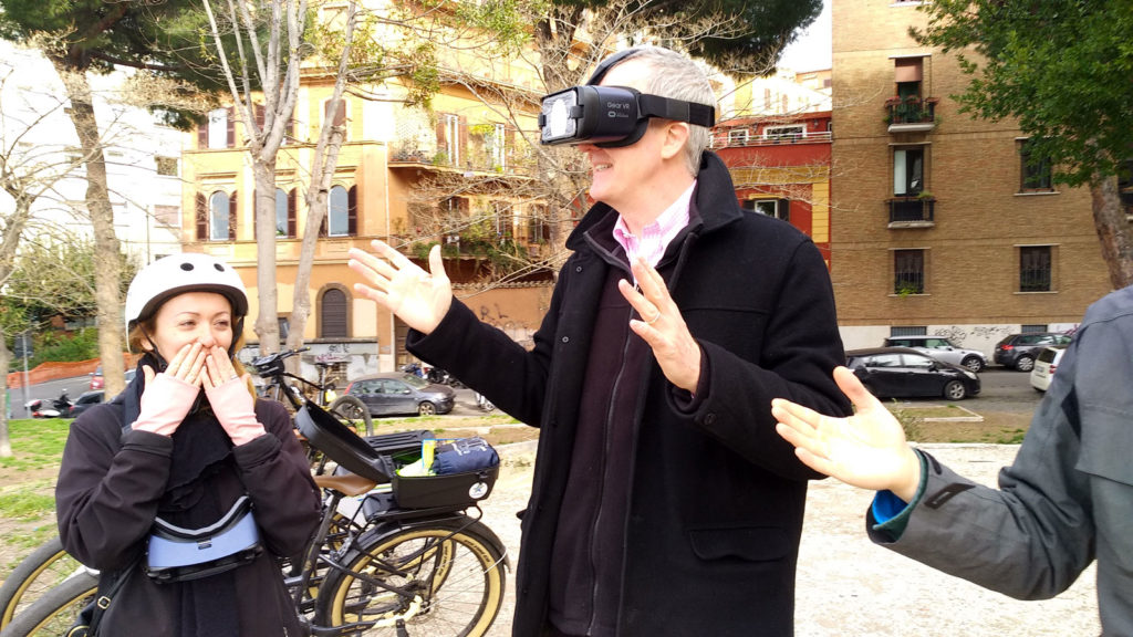 Bike ride to Rome and Virtual Reality in a single tour